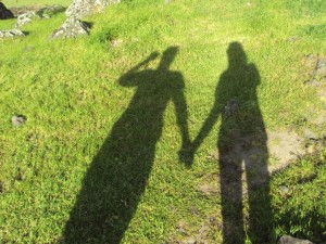Shadows holding hands by Lindsie Nicole West
